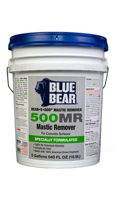 Blue Bear 500mr Mastic Remover For Concrete Bean E Doo