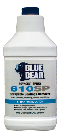 610SP: Sprayable Coatings Remover (SOY Gel Spray)