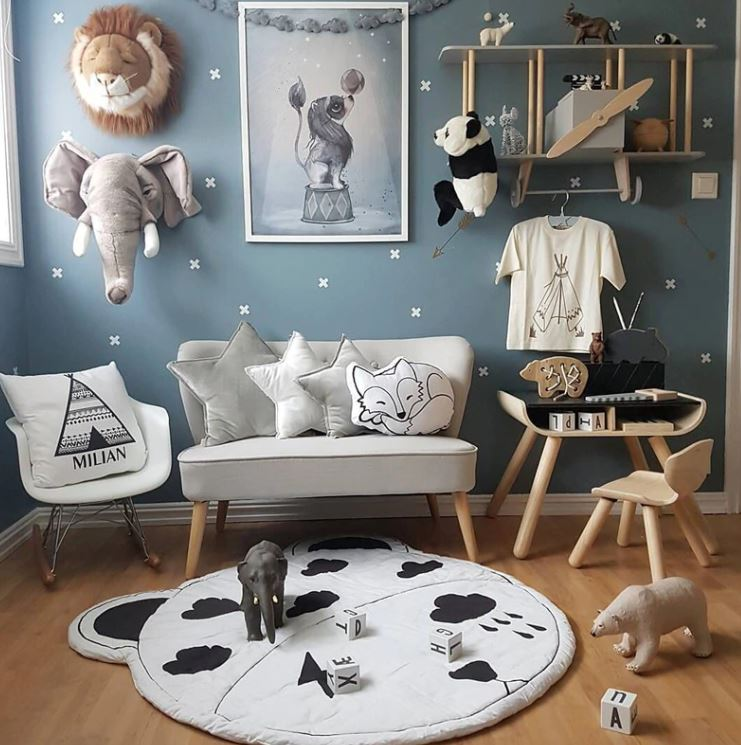 "Alt=""Kids room idea with airplane shelf"""