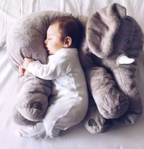 "Alt=""Baby sleeping on Giant elephant pillow"""