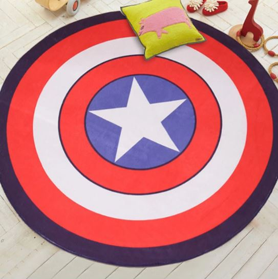 "Alt=""Baby play mat - Captain America shield"""