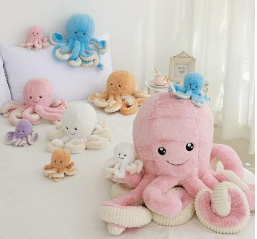 "Al=""Octopus Large Stuffed plush toy """