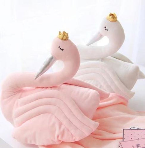 "Alt=""Handmade Swan room decoration cushion"""