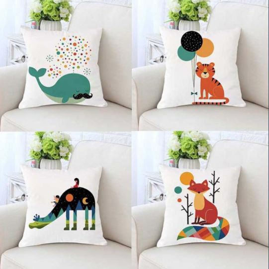 "Alt=""Nordic animals cushion cover"""