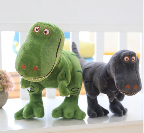 "Alt=""Plush toy dinosaur green and gray"""