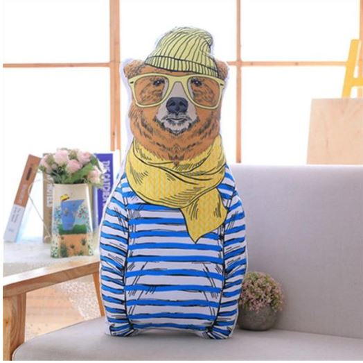 "Alt=""Bear cushion Nordic animal"""