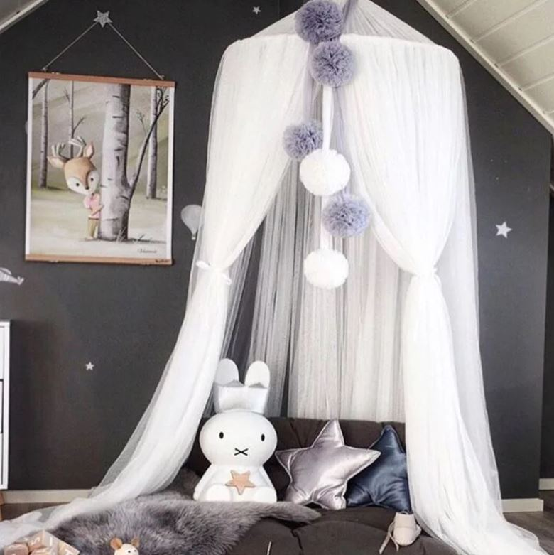 "Alt=""baby bed Canopy white"""