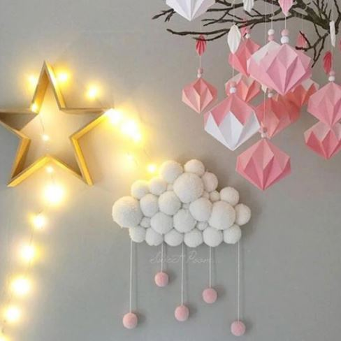 "Alt=""rainin cloud wall decoration"""