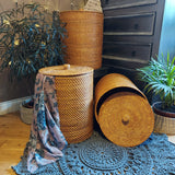 rattan baskets with lid