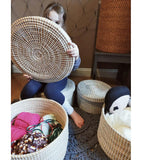 seagrass baskets with lid
