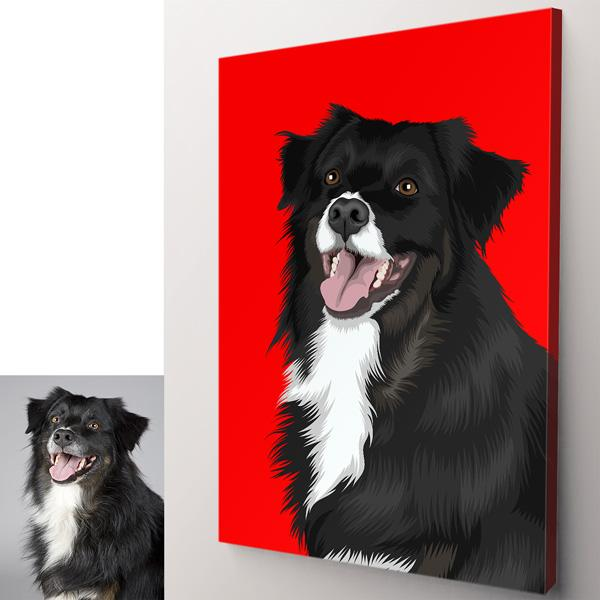 Order custom pet portrait at Gear Den.