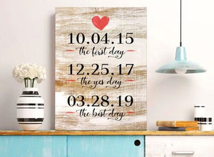 personalized date wall art
