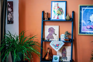 how to display wall art without hanging it