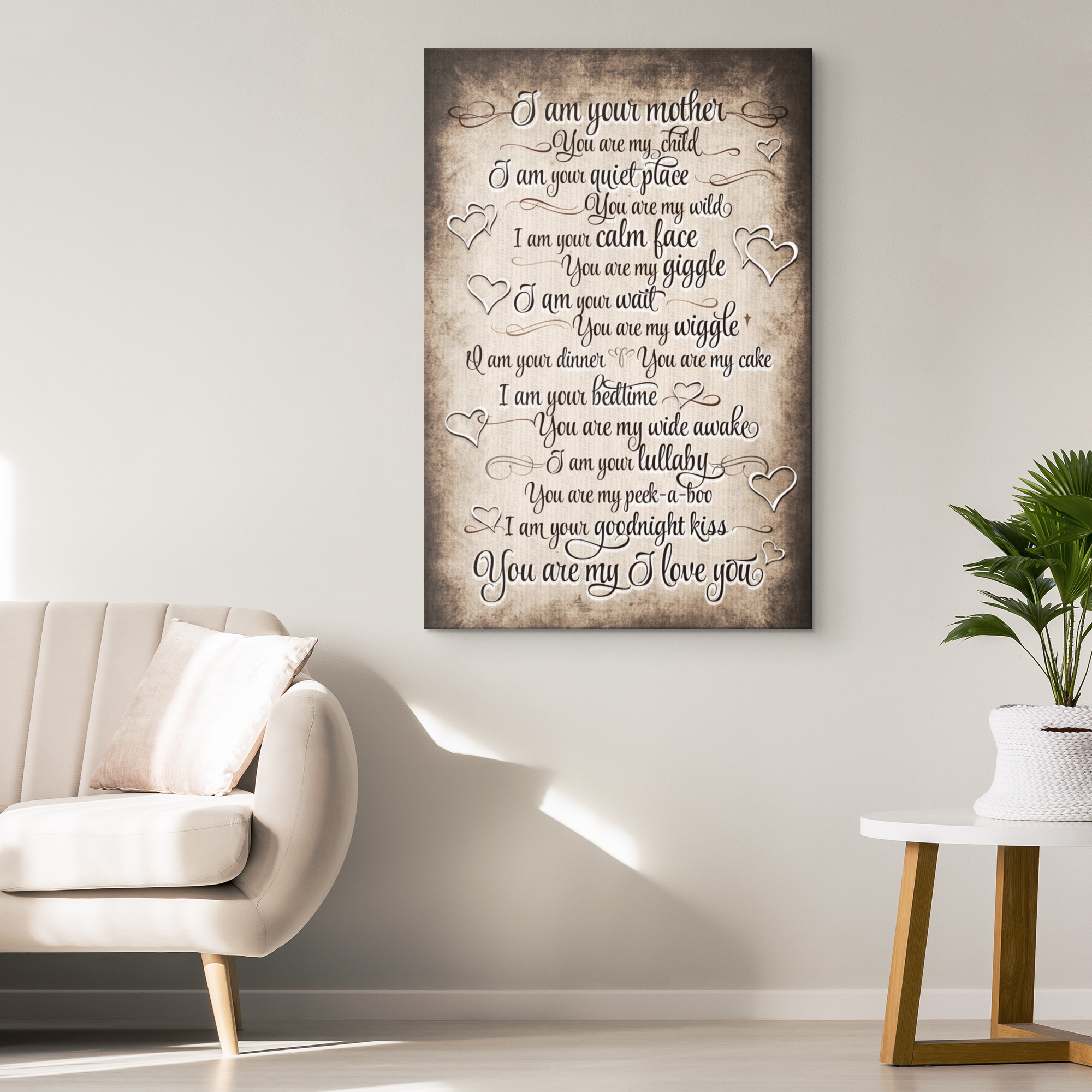 """I Am Your Mother, You Are My Child"" Premium Canvas"