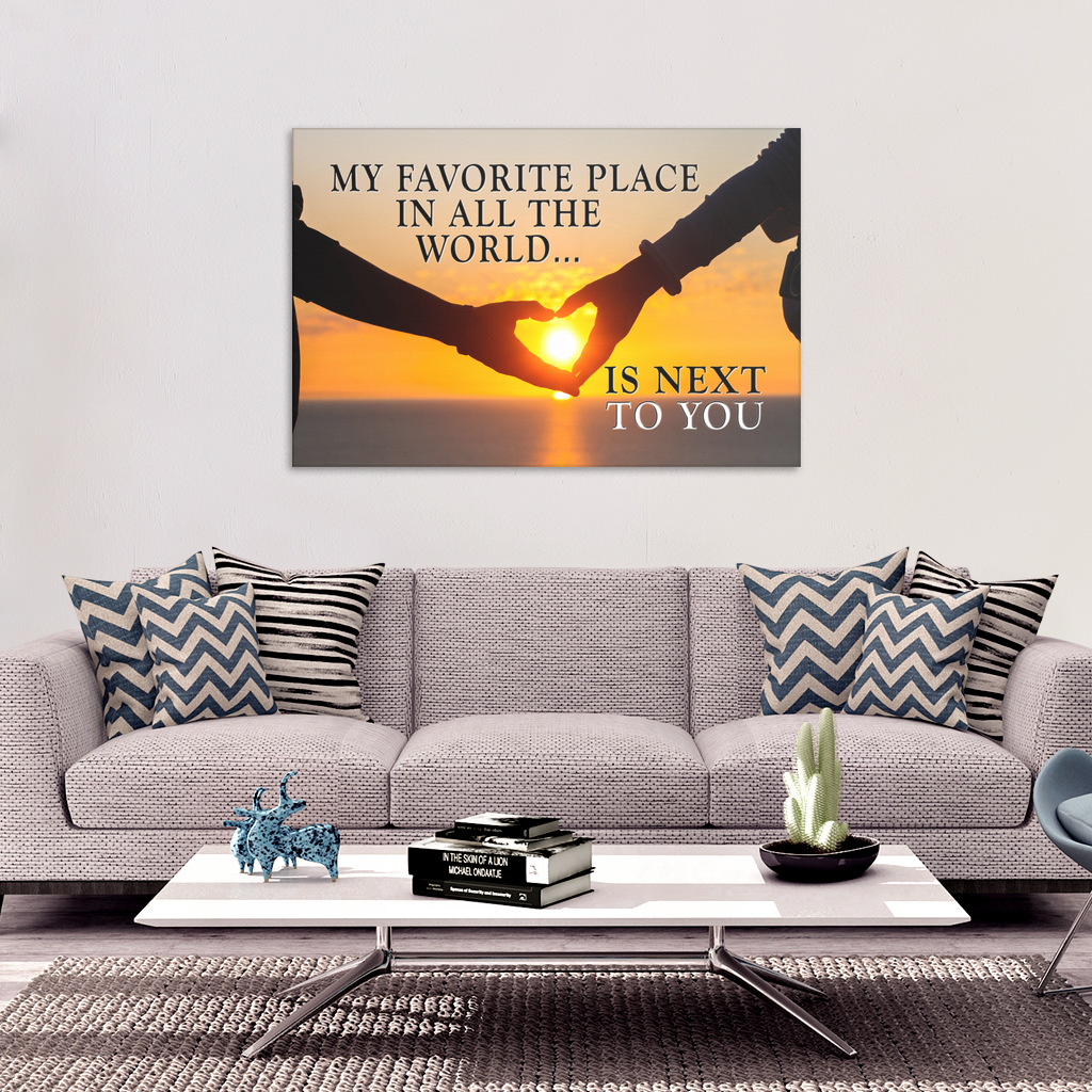 """Next To You"" Sunset Premium Canvas"