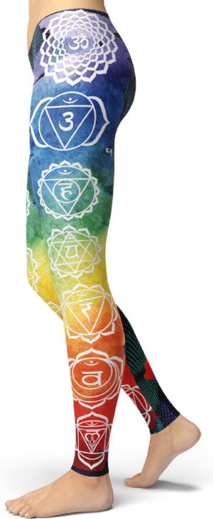 Seven Chakras Colorful Leggings
