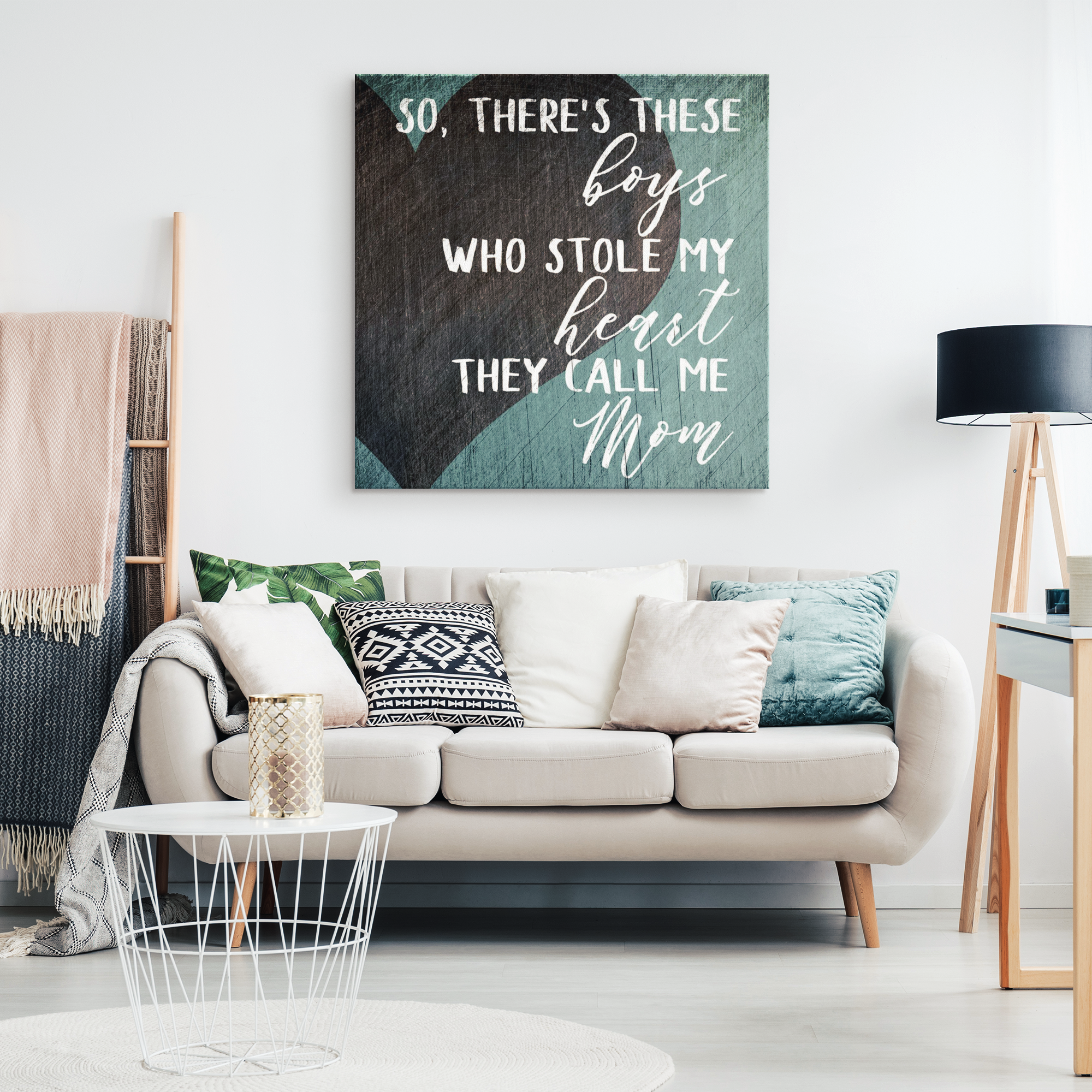 """These Boys Who Stole My Heart"" Premium Canvas"