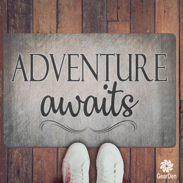 """Adventure Awaits"" Doormat"