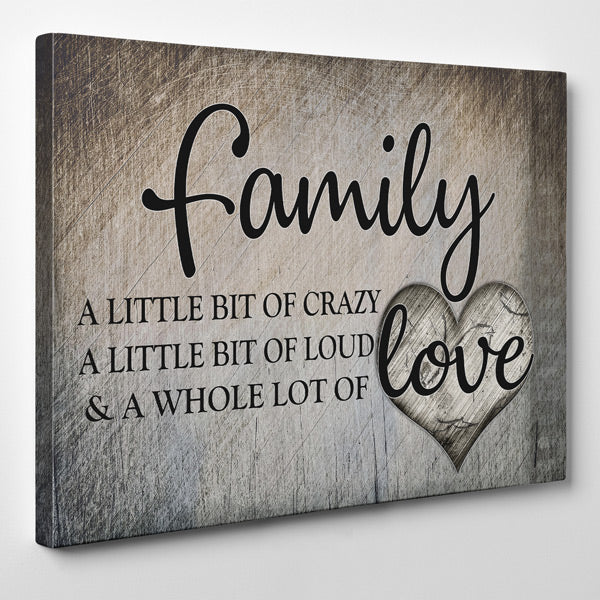 """Family.. Love"" Premium Canvas"