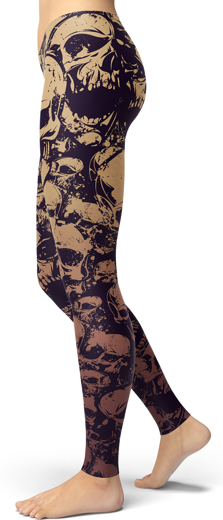 Goth Skulls Pattern Leggings