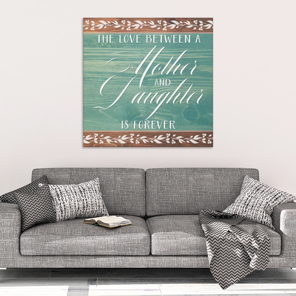 """The Love Between a Mother and Daughter"" Premium Canvas"