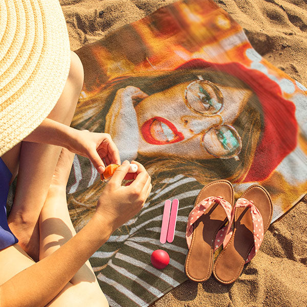 Personalized Photo Beach Towel - Add Any Image!