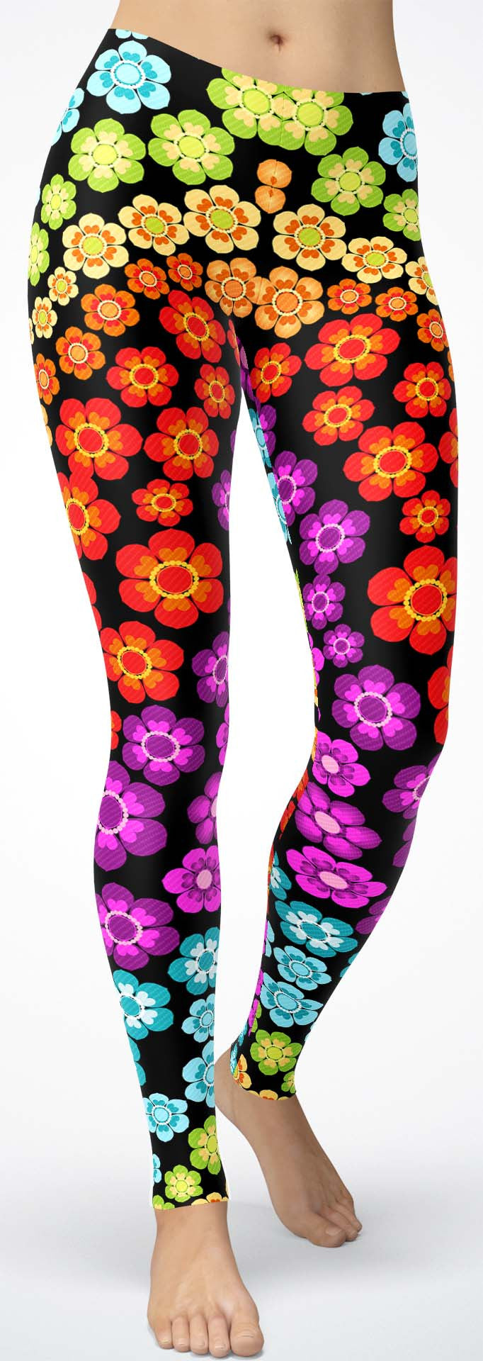 Rainbow Flower Leggings