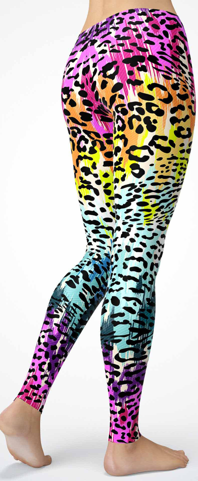 Rainbow Leopard Skin Leggings