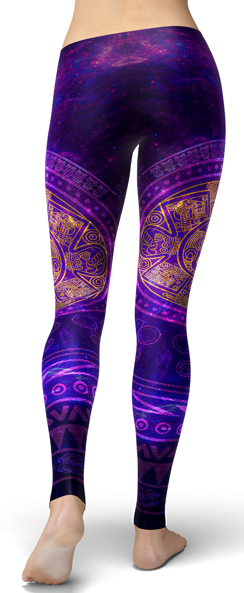 Purple Aztec Leggings
