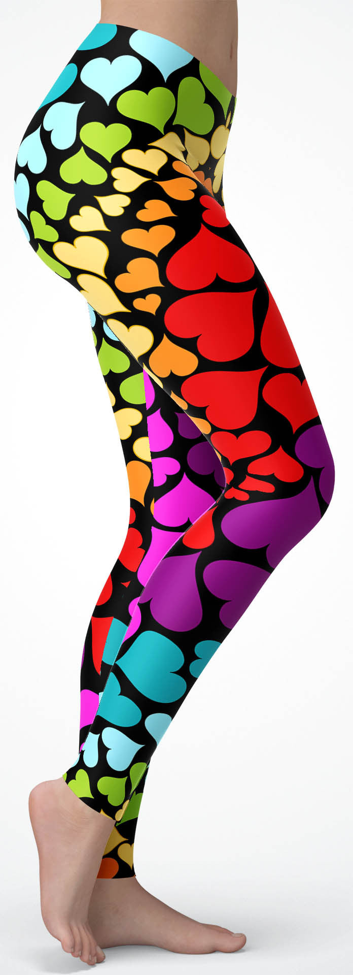 Rainbow Hearts Leggings