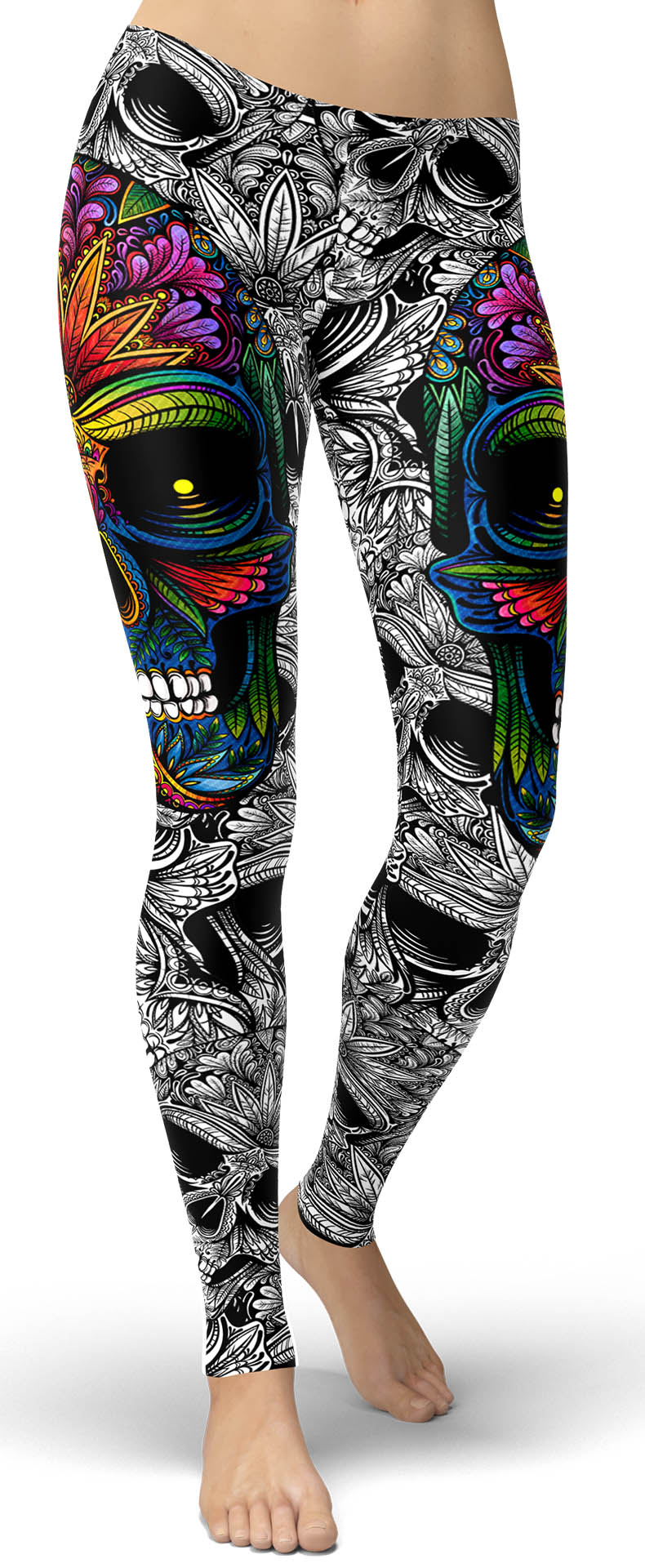 Rainbow Skull Leggings