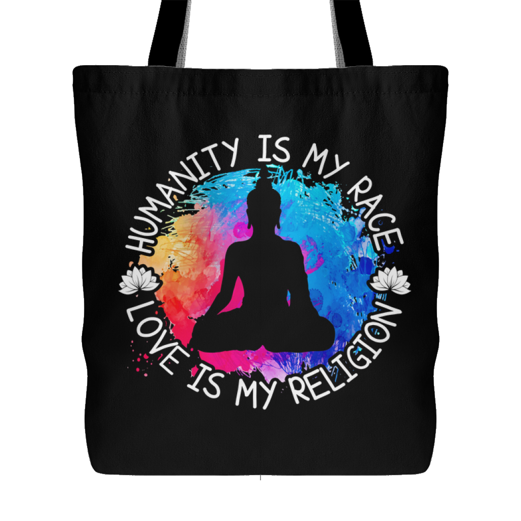 """Humanity Is My Race"" Tote Bag"