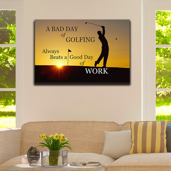 """A Bad Day Of Golfing"" Canvas Wall Art"