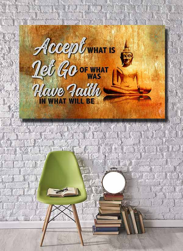 accept let go have faith canvas wall art