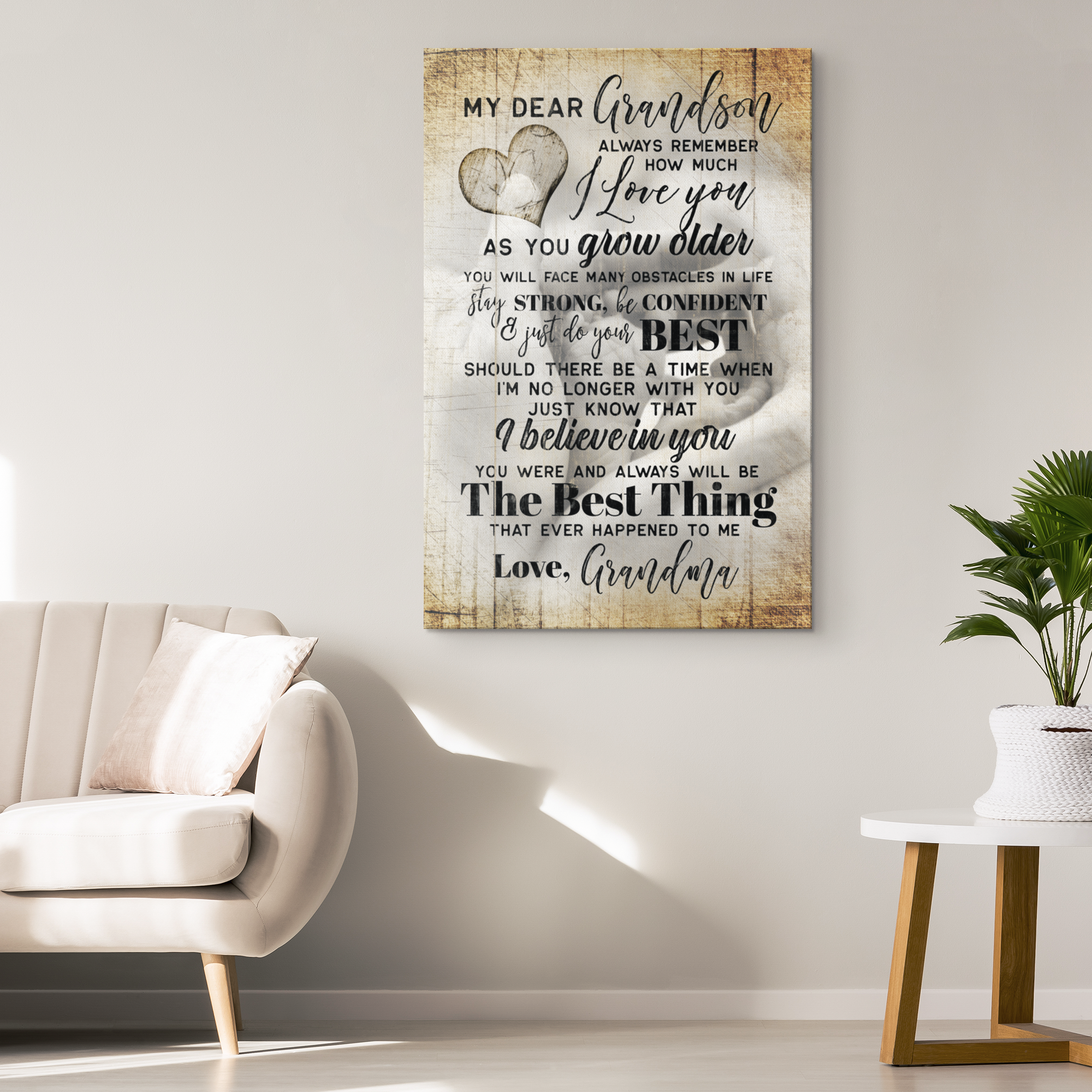 """My Dear Grandson - I Love You"" Premium Canvas"