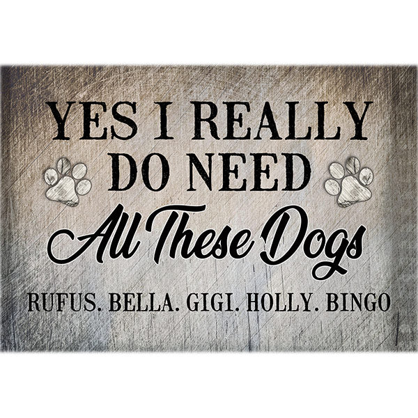 "Personalized ""All These Dogs"" Premium Canvas"