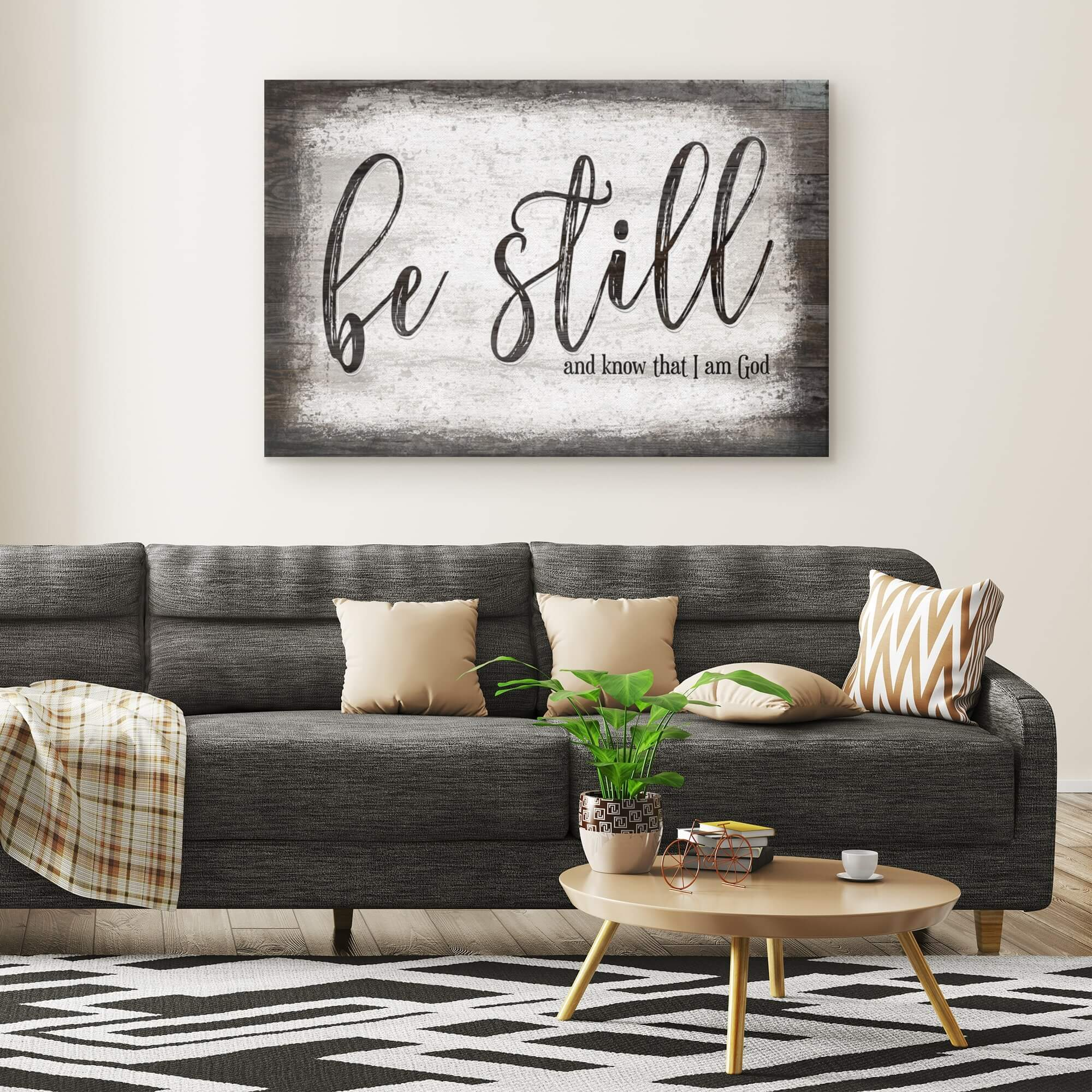 """Be Still And Know That I Am God"" Premium Canvas"