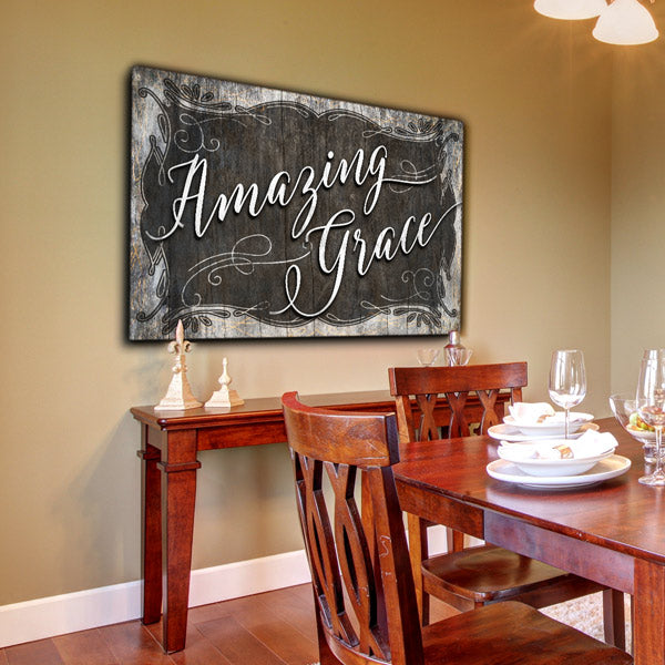 """Amazing Grace"" Premium Canvas Wall Art"