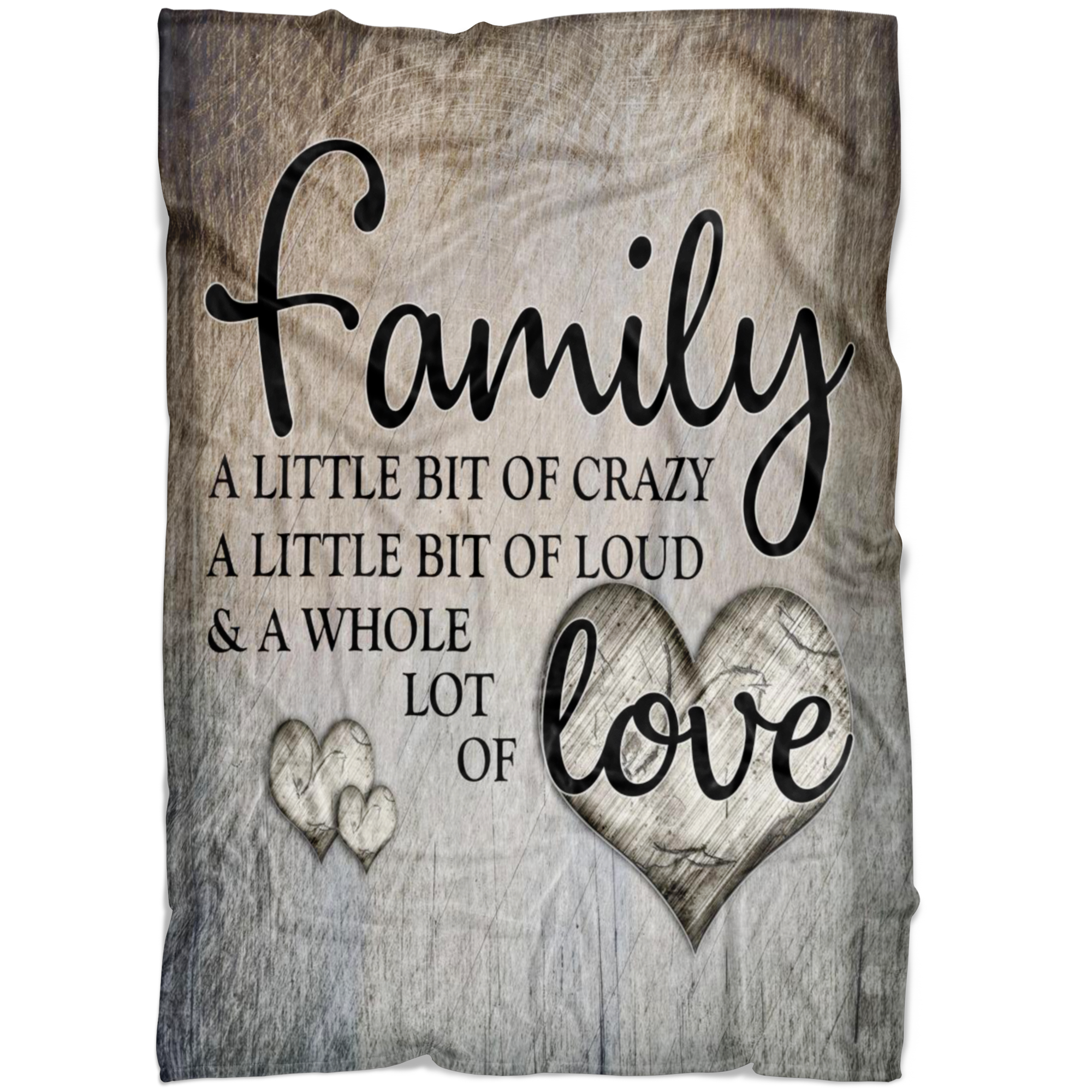 """Family...Love"" Premium Fleece Blanket"