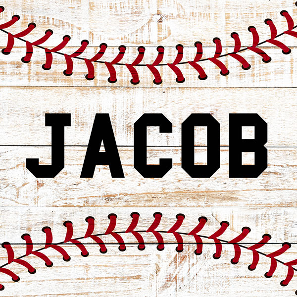Personalized Baseball Name Premium Canvas