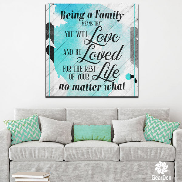 """Being a Family.."" Premium Canvas"