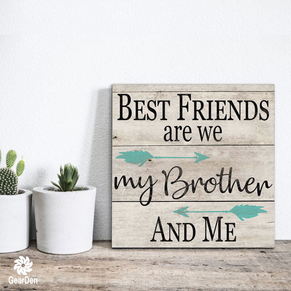 """My Brother And Me"" Canvas Wall Art"