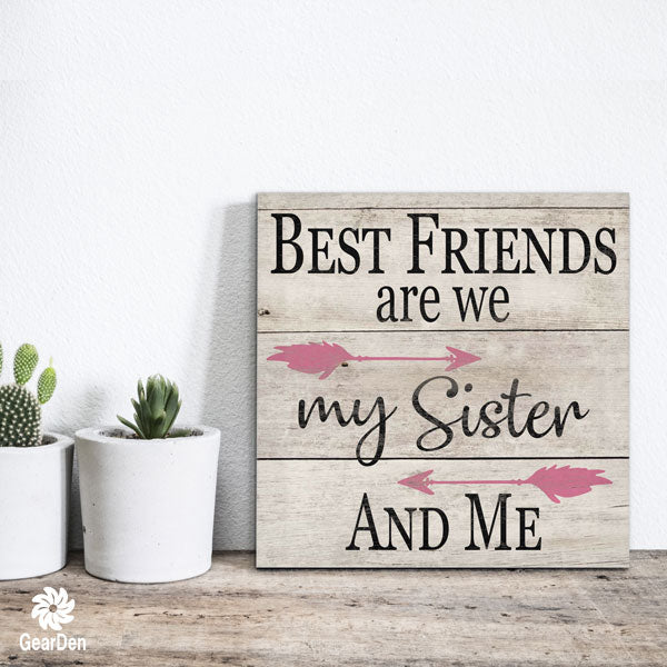 """My Sister And Me"" Canvas Wall Art"