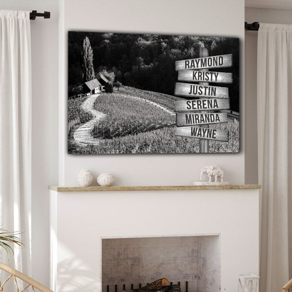 "Personalized Names ""Heart-Shaped Lane"" Premium Canvas"