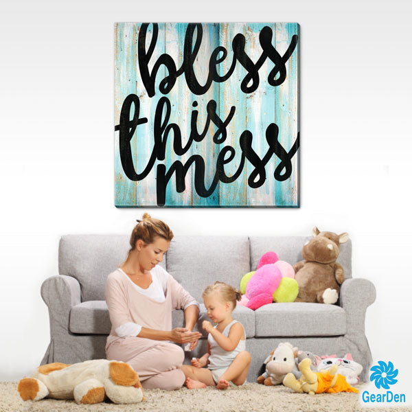 """Bless This Mess"" Premium Canvas"