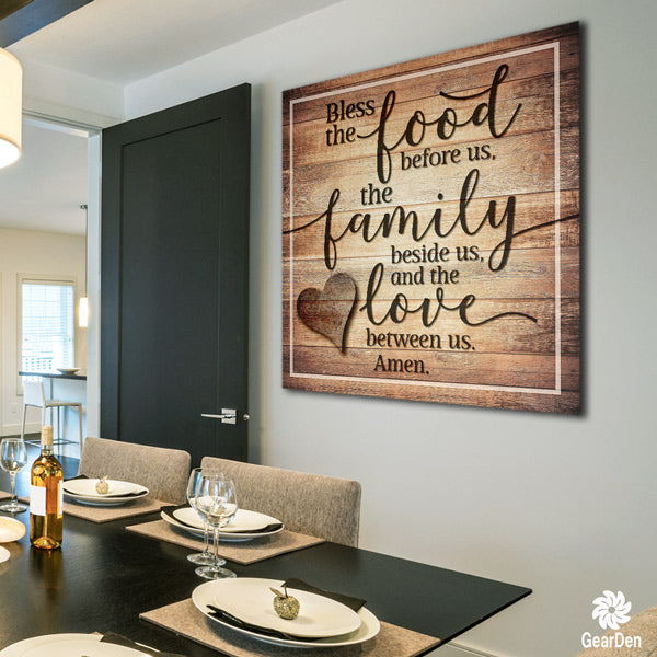 """Food, Family, Love"" Premium Canvas"