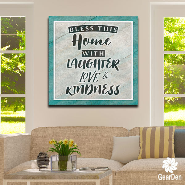 """BLESS THIS HOME"" PREMIUM CANVAS"