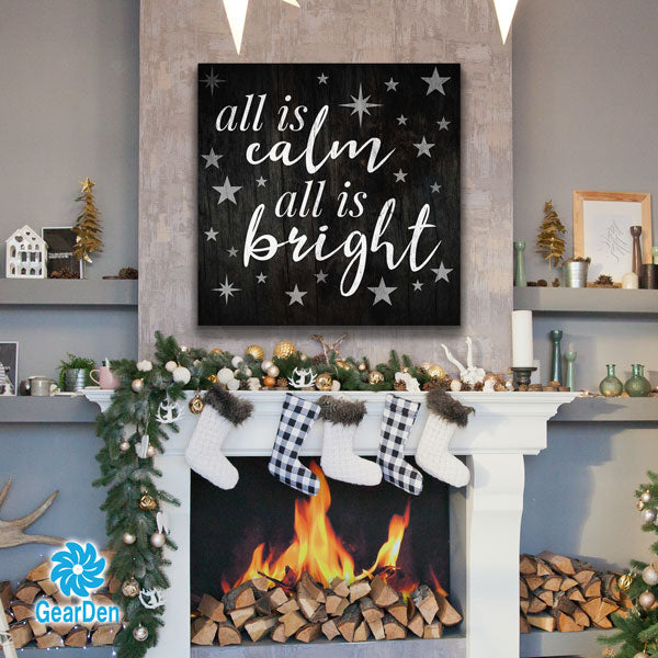 """All Is Calm All Is Bright"" Premium Canvas"