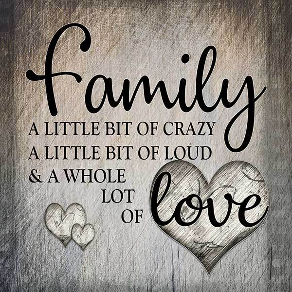 canvas wall art family crazy loud whole lot of love square