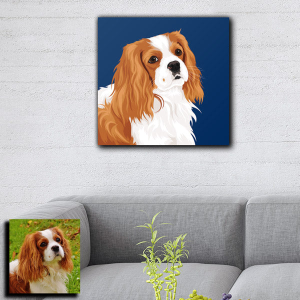Custom Pet Art Premium Canvas